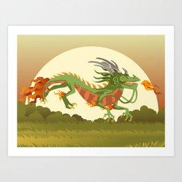 traditional chinese dragon Art Print