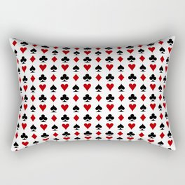 poker cards symbol Rectangular Pillow