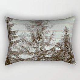 Three pine trees Rectangular Pillow