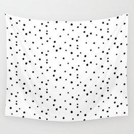 Dalmatian Polka Dots - White/Black Wall Tapestry