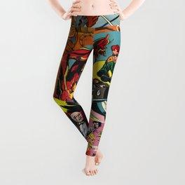 Comic Book Collage Leggings