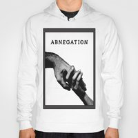 divergent Hoodies featuring ABNEGATION - DIVERGENT (draw by me) by MarcoMellark