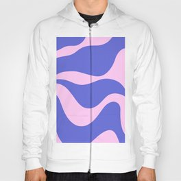 Wavy Land - Pink and Blue Hoody