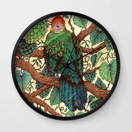 Tipsy Turaco Wall Clock