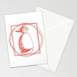 Metaphysical Penguin Vetruvian Penguin Stationery Cards