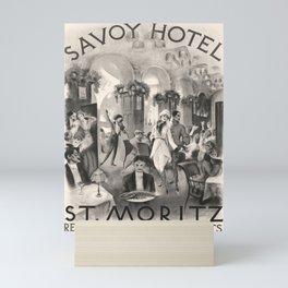 Savoy Hotel St Moritz Affiche Mini Art Print