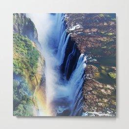 Mosi-oa-Tunya: Rainbow Metal Print