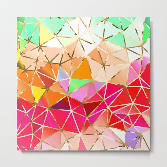 Rainbow Geometric Pattern #7 Metal Print