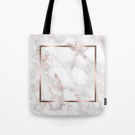 Luxury Rose-gold Faux Marble Tote Bag