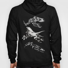 Jurassic Bloom - Black version. Hoody