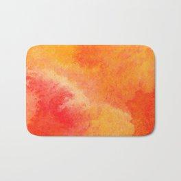 Orange watercolor paint vector background Bath Mat