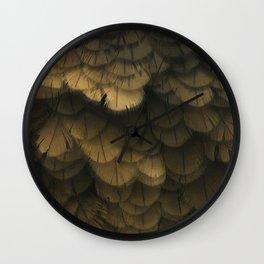 Kea Feathers Wall Clock