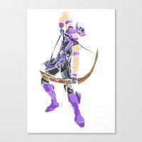 clint barton Canvas Prints featuring Clint Barton by Tegan New