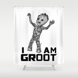 BabyGroot Shower Curtain