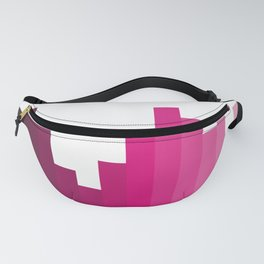 Pink Gradient Bars Fanny Pack