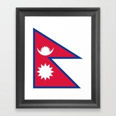 Flag of Nepal Framed Art Print