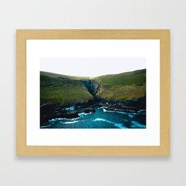 Cornish Cliff Framed Art Print