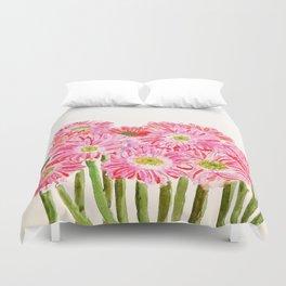 Pink Gerbera Daisy watercolor Duvet Cover