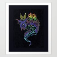 Sea Slug Shaman Art Print