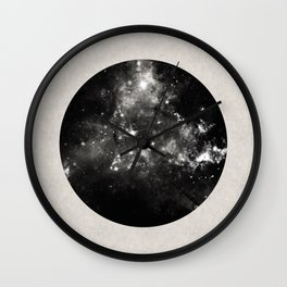 God's Window - Black And White Space Painting Wall Clock