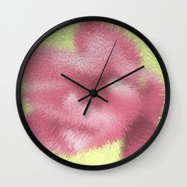 Abstract pink flowers Wall Clock