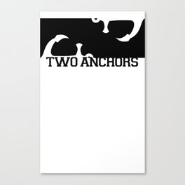 Double Anchor in Black Canvas Print
