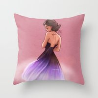 laia Throw Pillows featuring Love, Rosie by Laia™