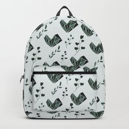 Abstract pattern design with floral elements Backpack
