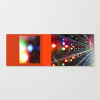subway Canvas Prints featuring subway by Davey Charles