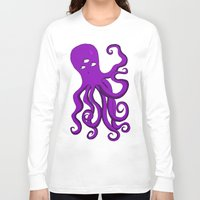 occult Long Sleeve T-shirts featuring Occult Octopus by mystmoon