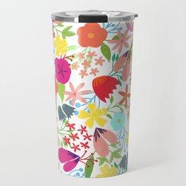 Wildflower Pattern Travel Mug