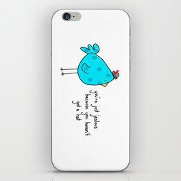 Sassy Bird iPhone Skin