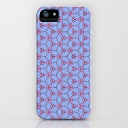 Hex Pattern 65 - Purple/Pink iPhone Case
