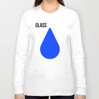 glass Long Sleeve T-shirts featuring GLASS by try2benice