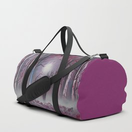 Deer In A Purple Forest Duffle Bag