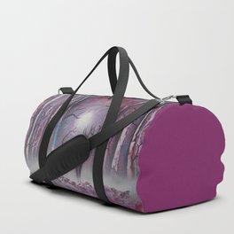 Deer In A Purple Forest Duffle Bag