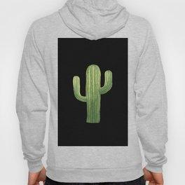 Simple Green Cactus on Black Hoody