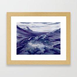 Icelandic Landscape (Blueberry/Bláber Painting)  Framed Art Print