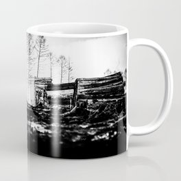 Poltery Site (Wood Storage Area) After Storm Victoria Möhne Forest 2 bw Coffee Mug