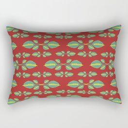 Tropical Stylized Floral Pattern Rectangular Pillow