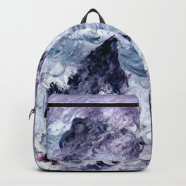 Monet : Storm At Belle Ile Backpack