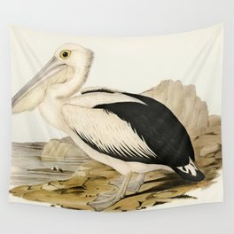 Pied oyster-catcher from Birds of America (1827) by John James Audubon etched by William Home Lizars Wall Tapestry
