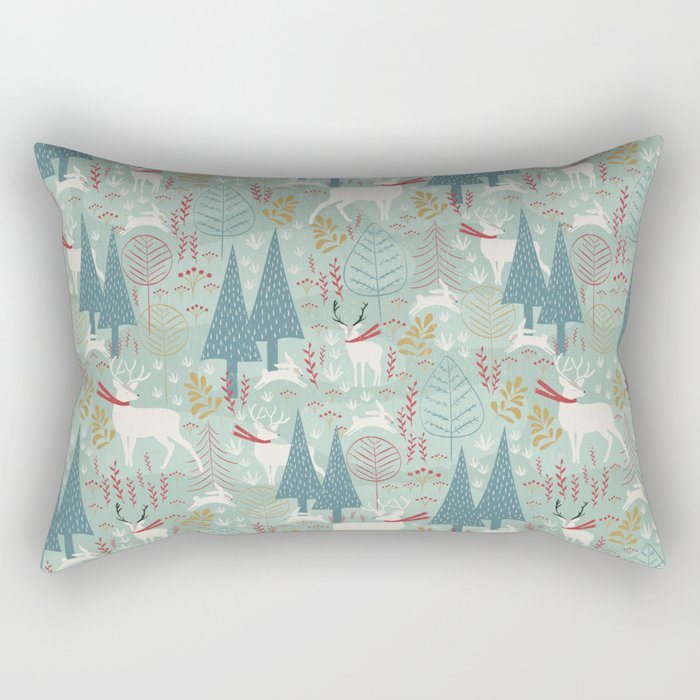 Woodland Christmas Rectangular Pillow