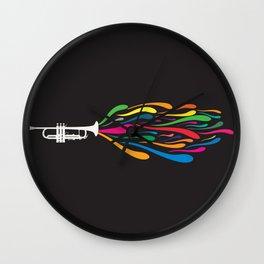 A Trumpet Wall Clock