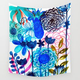 Blue Burst Wall Tapestry