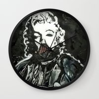 death star Wall Clocks featuring Death Star by Matt Pecson