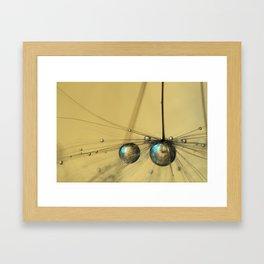 Molten Gold Drops Framed Art Print