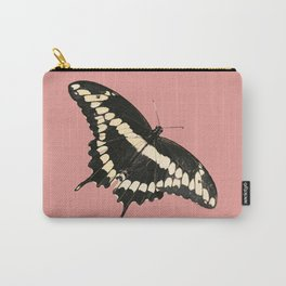 Butterfly Illustrated Print Carry-All Pouch