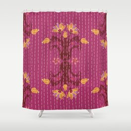 Kantha bouquet 5 Shower Curtain