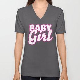 Kawaii Daddy's Baby Girl Kink product | DDLG ABDL BDSM Unisex V-Neck